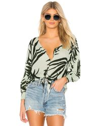 Michael Stars - Paradiso Boho Blouse In Mint - Lyst