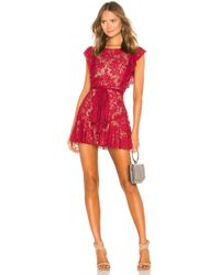 MAJORELLE - Marnie Mini Dress In Red - Lyst