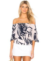 Michael Stars - Paradiso Tiered Top In Pink - Lyst