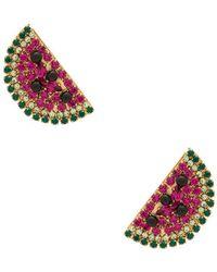 Anton Heunis - Watermelon Slice Earrings In Fuchsia. - Lyst