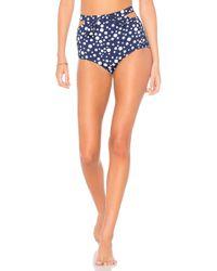 Morgan Lane - Mica Bikini Bottom In Navy - Lyst