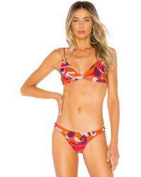 d086470cf31ce4 Mikoh Swimwear Ponzu Top In Safari - Lyst