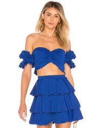 House of Harlow 1960 - X Revolve Faron Top In Blue - Lyst