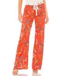 Alexis - Pearson Pant In Red - Lyst