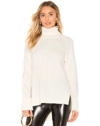 Bobi - Ribbed Turtleneck Sweater In Ivory - Lyst