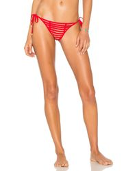 Beach Bunny - Hard Summer Side Tie Bottom In Red - Lyst