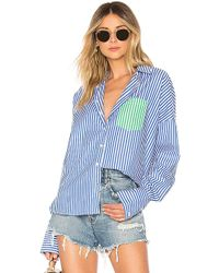 Line & Dot - Skylar Shirt In Royal - Lyst
