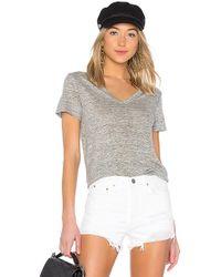 Enza Costa - Linen Loose Short Sleeve Tee In Gray - Lyst