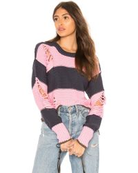 NSF - Presley Destroyed Sweater In Pink - Lyst