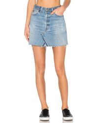 RE/DONE - Levis High Waist Mini Skirt In Blue - Lyst