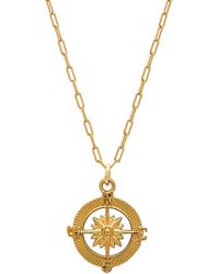 Joolz by Martha Calvo - Destiny Compass Necklace - Lyst