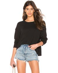 5ab30ba36d Lyst - James Perse Off The Shoulder Cashmere Sweater