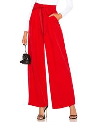 MILLY - Natalie Pant In Red - Lyst