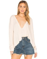 Wildfox - Solid Sweatshirt In Beige - Lyst
