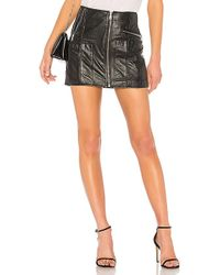 RE/DONE - Originals Reconstructed Leather Mini Skirt - Lyst