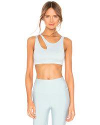 Alo Yoga - Sujetador peak en color azul cerceta - Lyst