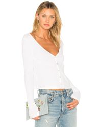 Lamade - Cropped Cardigan In White - Lyst