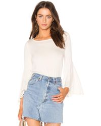 Ella Moss - Bell Sleeve Top In Cream - Lyst