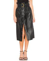 Tularosa - Jenna Faux Leather Skirt - Lyst