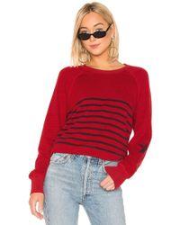 Sundry - Striped Raglan Pullover - Lyst