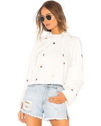 Pam & Gela - Crop Hoodie Sweatshirt With Stars - Lyst