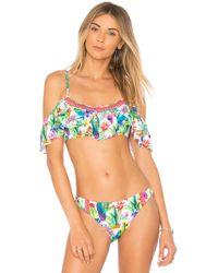 Nanette Lepore - Enchantress Bikini Top In Green - Lyst