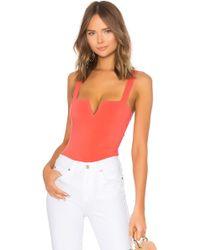 Free People - Pippa V-wire Bodysuit In Orange - Lyst