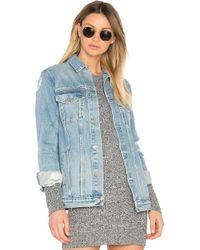 GRLFRND - Blouson Oversized En Jean Customization Daria - Lyst