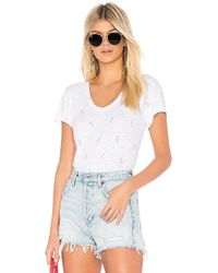 Bobi - Tropical Ditsy Short Sleeve Tee In White - Lyst