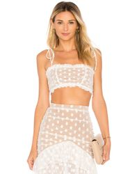 MAJORELLE - Sawyer Top In White - Lyst