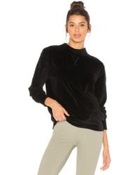 Year Of Ours - Velour Mock Neck Sweatshirt - Lyst