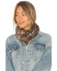 Hat Attack - Luxe Rabbit Loop Scarf - Lyst