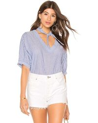 Velvet By Graham & Spencer - Denna Top In Blue - Lyst