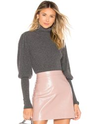 MILLY - Cashmere Puff Sleeve Sweater In Gray - Lyst