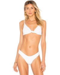 Minimale Animale - The Perfect Knotted Rib Bikini Top In White - Lyst