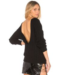 Callahan - Stripe U Back Jumper In Black - Lyst