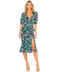 Saloni - Olivia Dress In Green - Lyst