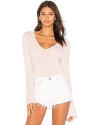 27milesmalibu - Goldie Cropped Sweater In Blush - Lyst
