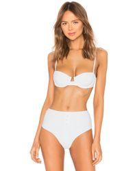 c845cefbd37f3 Onia - Dalia Ribbed Bikini Top In White - Lyst