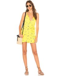 Free People - Tango At Night Romper In Yellow - Lyst