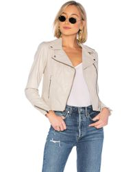 Lamarque - Donna Leather Jacket In Taupe - Lyst
