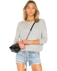Bobi - Jersey Long Sleeve Top In Grey - Lyst