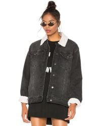Sanctuary - Statement Sherpa Denim Jacket - Lyst