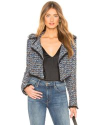 Lovers + Friends - Paola Cropped Jacket In Blue - Lyst