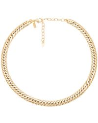 Natalie B. Jewelry - Viviani Necklace In Metallic Gold. - Lyst