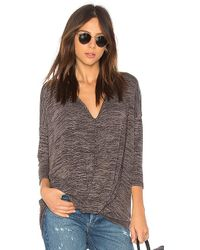 Bobi - Heather Knotted Sweater In Gray - Lyst