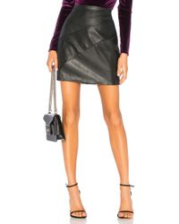 Krisa - Paneled Mini Skirt In Black - Lyst