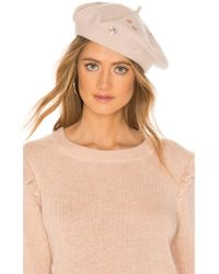 Yestadt Millinery - Sequin Beret In Blush. - Lyst