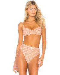 e9a4ac1c46f66 Lyst - Missguided Beige Crochet Bikini Set in Natural