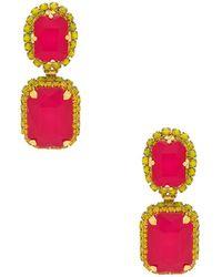 Elizabeth Cole - Bianca Earrings In Pink. - Lyst